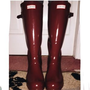 Women's Original Glossy tall Hunter Rain Boots